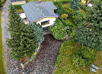 Luftbildaufnahme vom Erzgebirgshaus